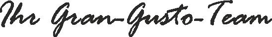 Schriftzug Gran-Gusto